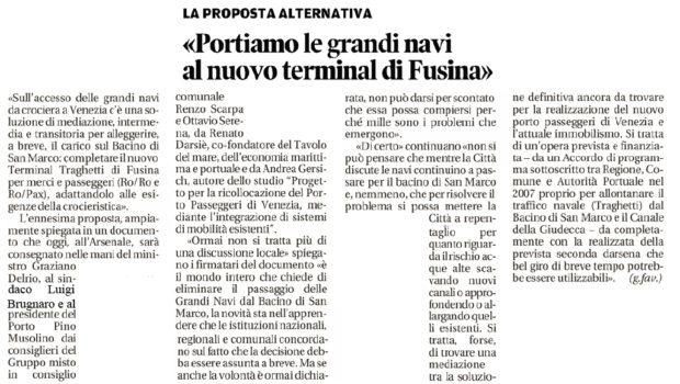 Croceristica a Fusina? No.
