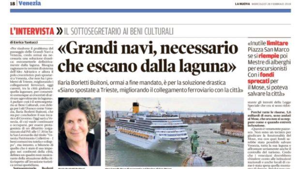 Alla larga dal governo. Ilaria Borletti Buitoni su Venezia.