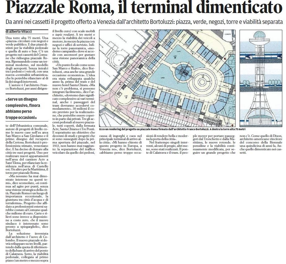 Piazzale Roma progetto
