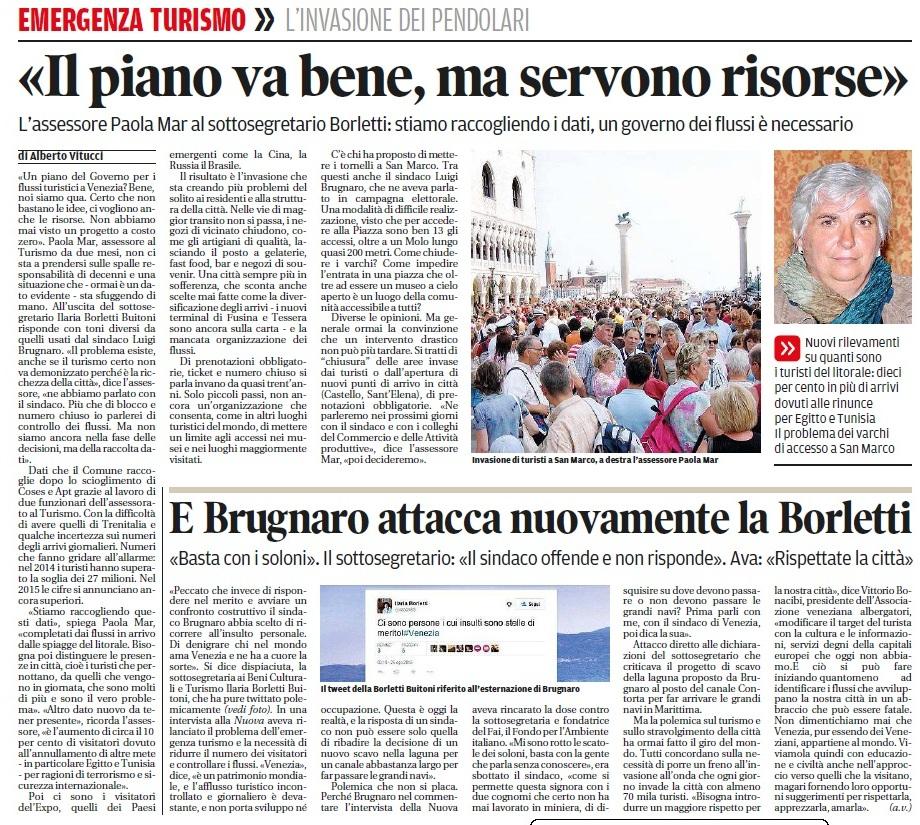 Progetti Mar e polemica Brugnaro-Borletti