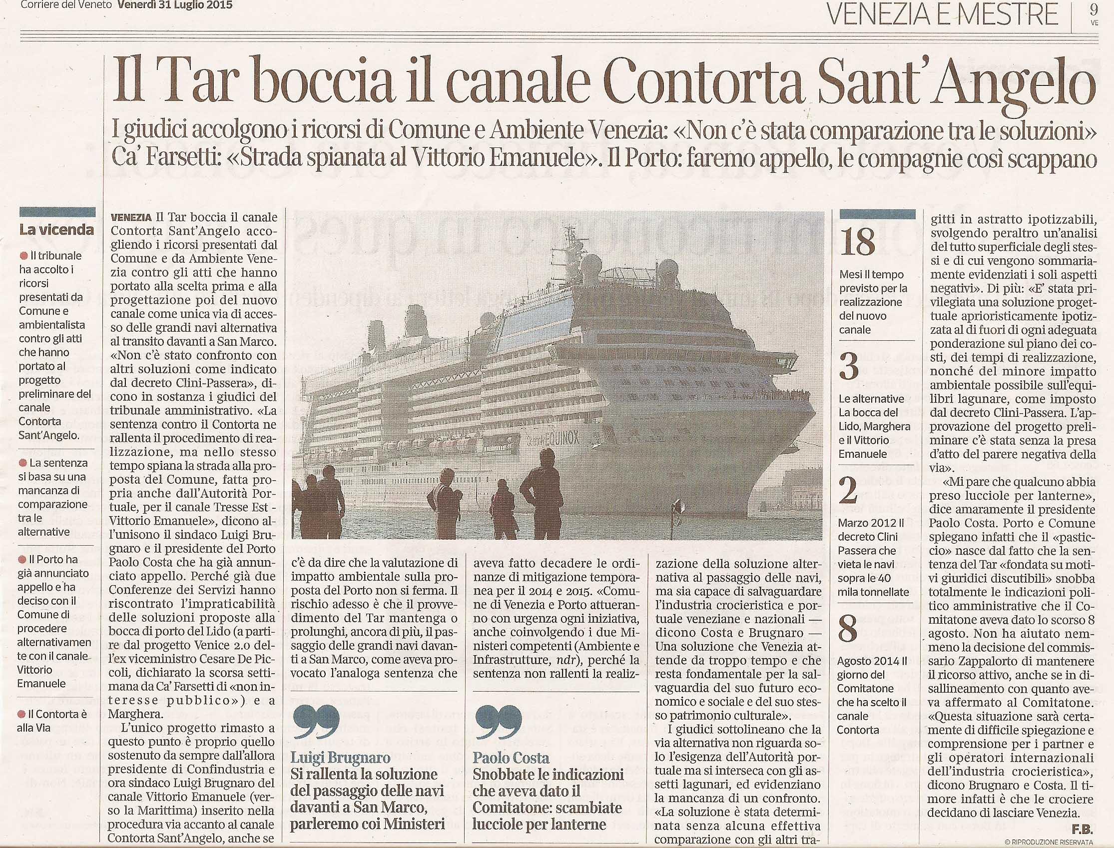 Tar sentenza Corriere