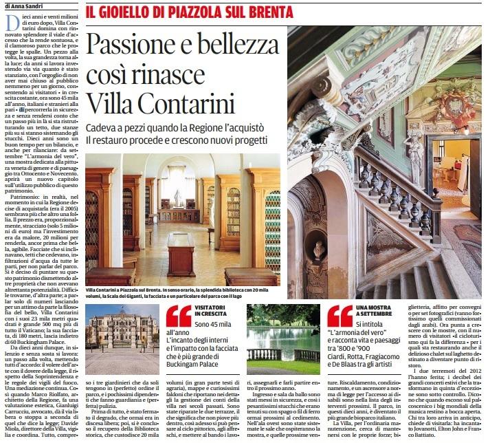 Villa Contarini restaurata
