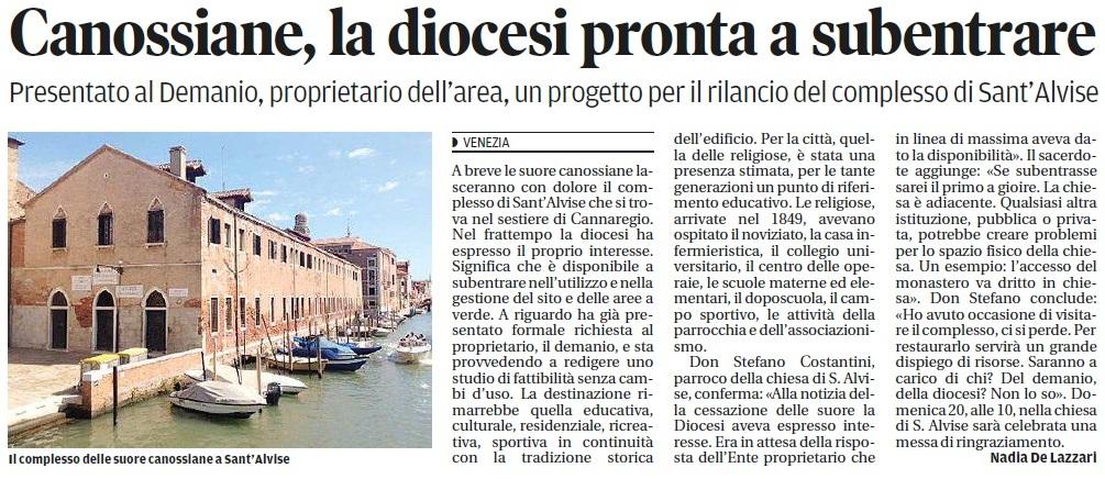 Canossiane alla diocesi