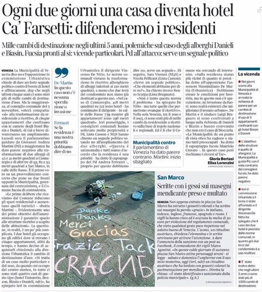 Cambio uso Corriere