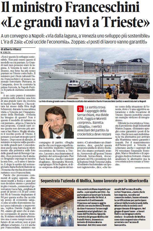 Franceschini navi a Trieste