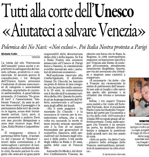Unesco incontri 14 ott. Gazz
