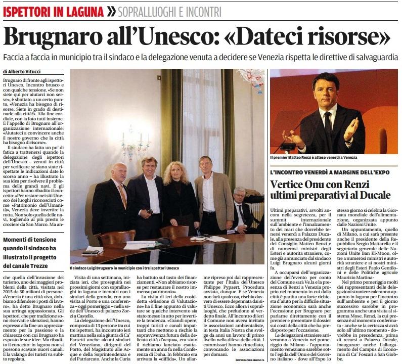 Unesco ispettori Nuova