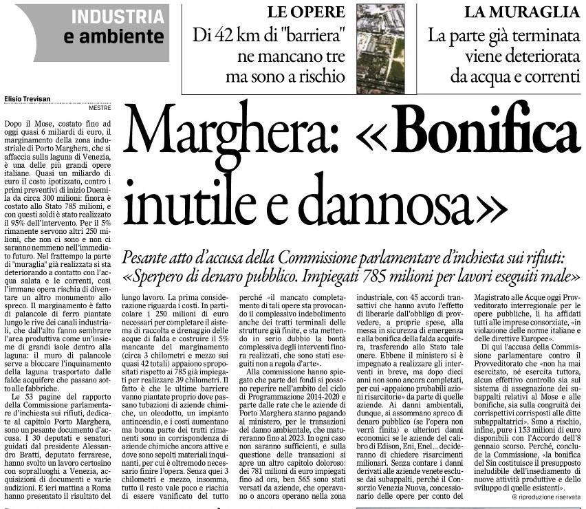 Marghera Bonifiche Gazzettino 1