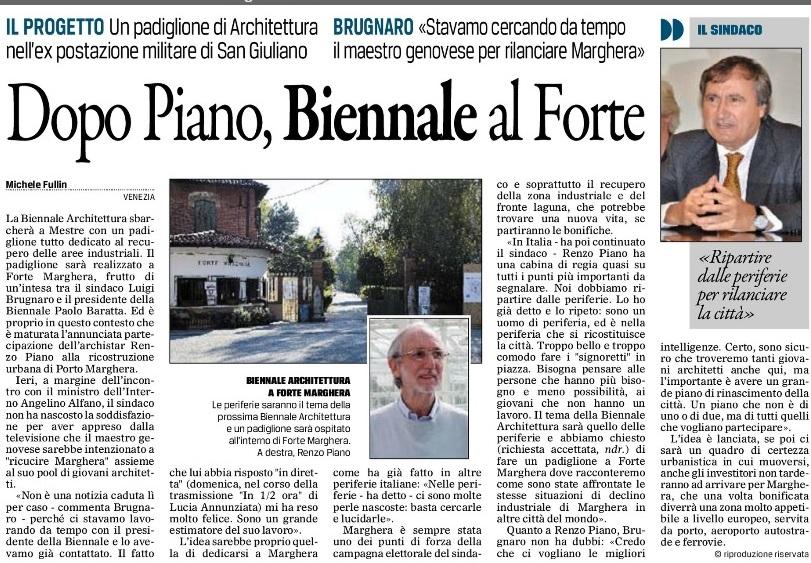 Piano Marghera Gazzettino