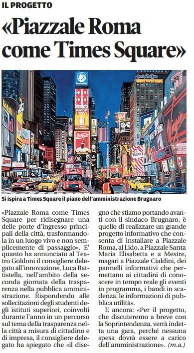 Piazzale Roma Times Square Nuova