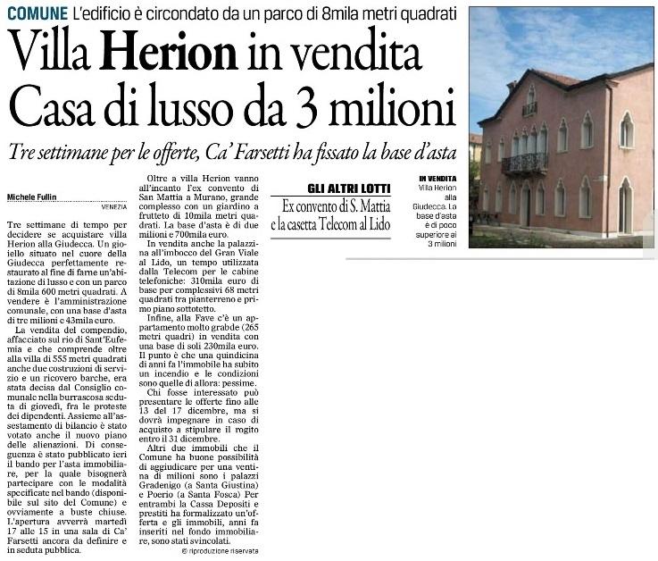 Villa Herion Gazzettino