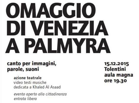 Omaggio di Venezia a Palmyra