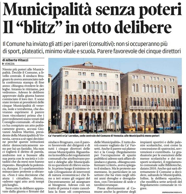 Municipalità indebolite