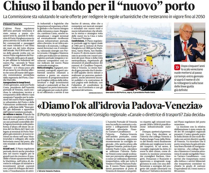 Piano regolatore porto