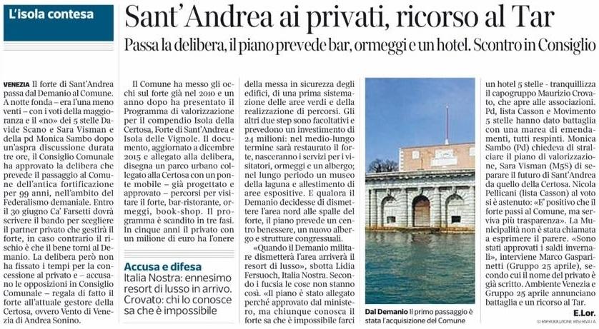 Sant'Andrea delibera Corriere