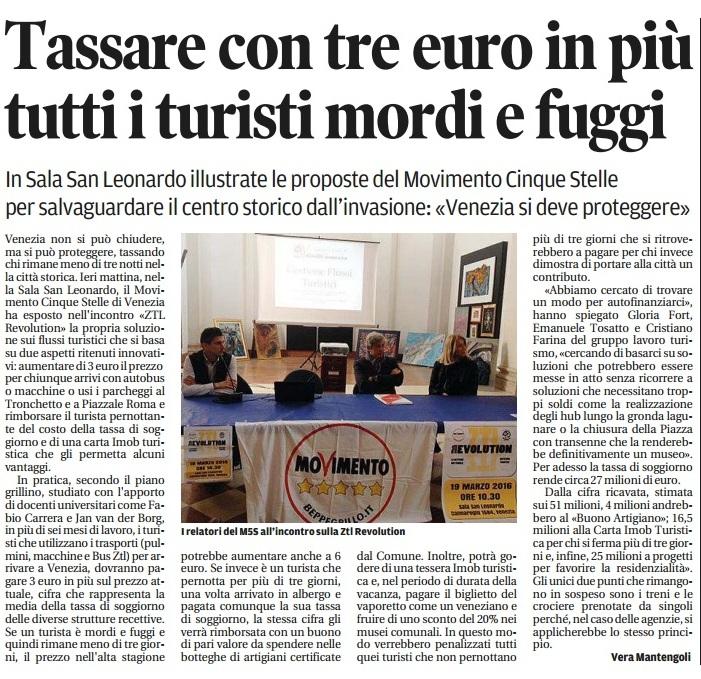 Turismo proposta 5 stelle