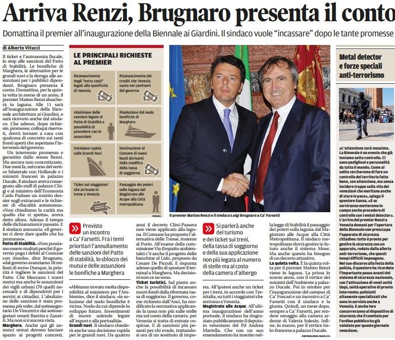 Brugnaro e Renzi