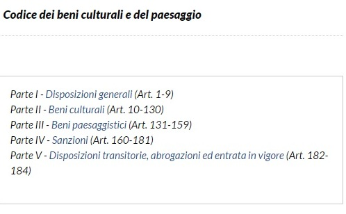 """La """"valorizzazione"""" secondo il Codice dei beni culturali"""