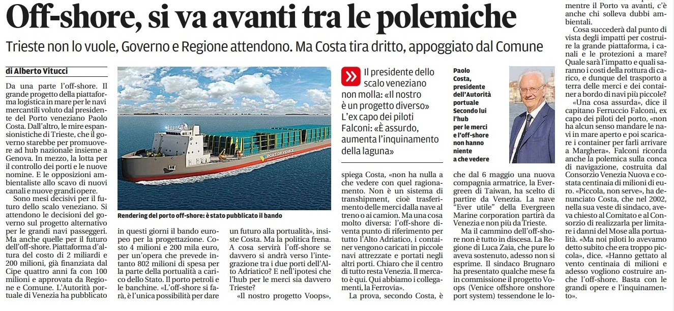 Porto offshore si fa il punto