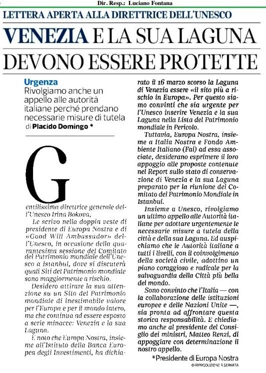 Lettera Domingo Corriere
