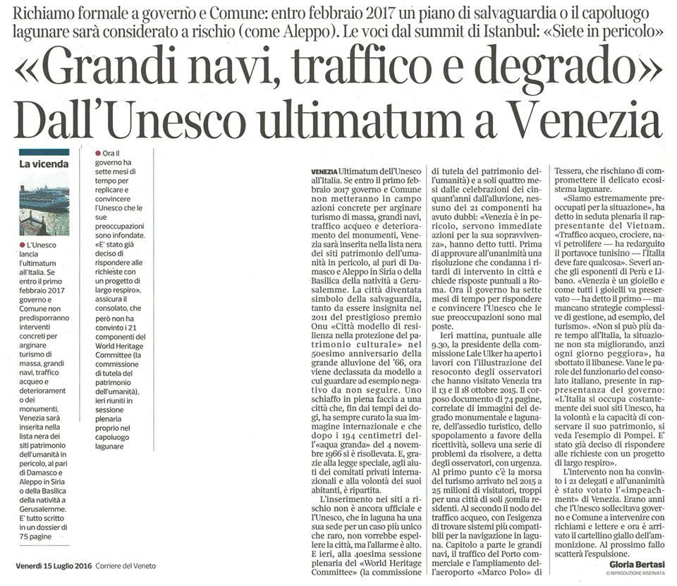 Unesco media Corriere