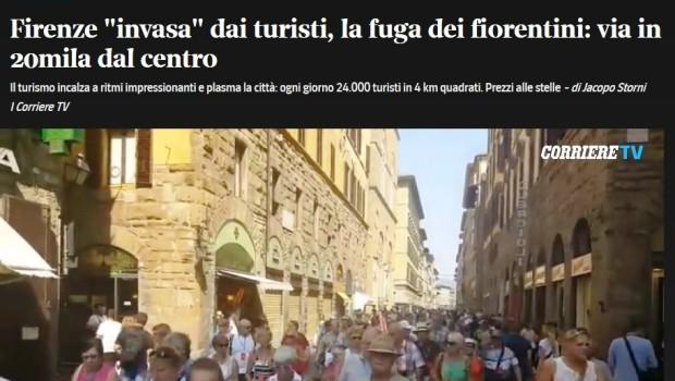 Firenze come Venezia, stravolta dal turismo male gestito