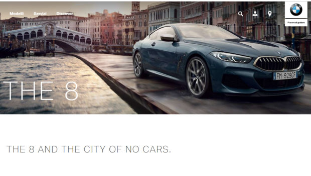 La BMW e il monopattino