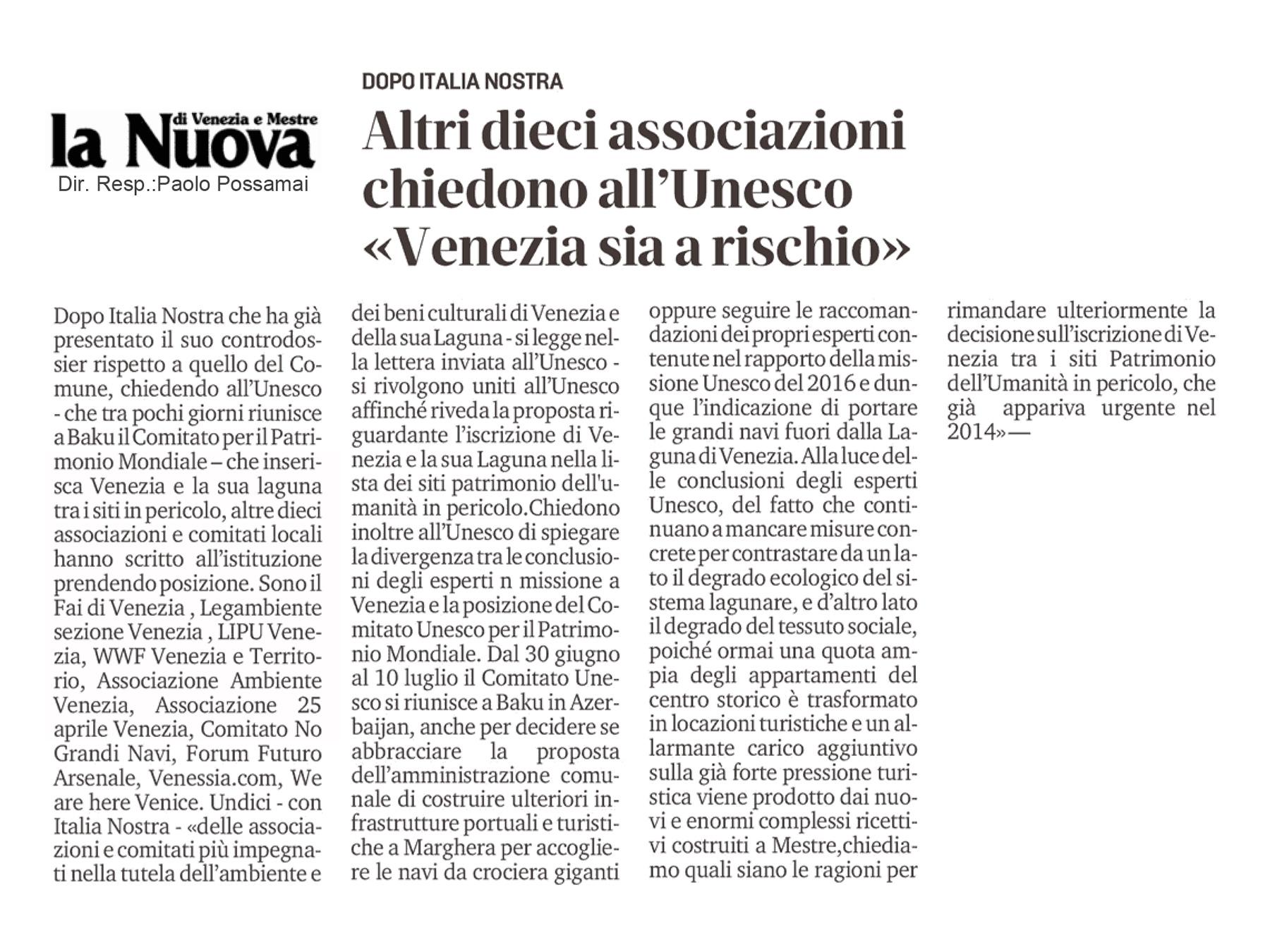 La Nuova Venezia 29 06 2019